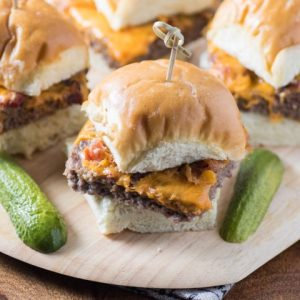Baked Cheeseburger Bacon Sliders