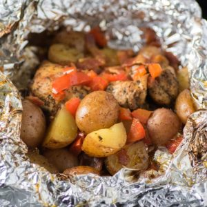 Grilled Spiced Chicken Potato Foil Packs
