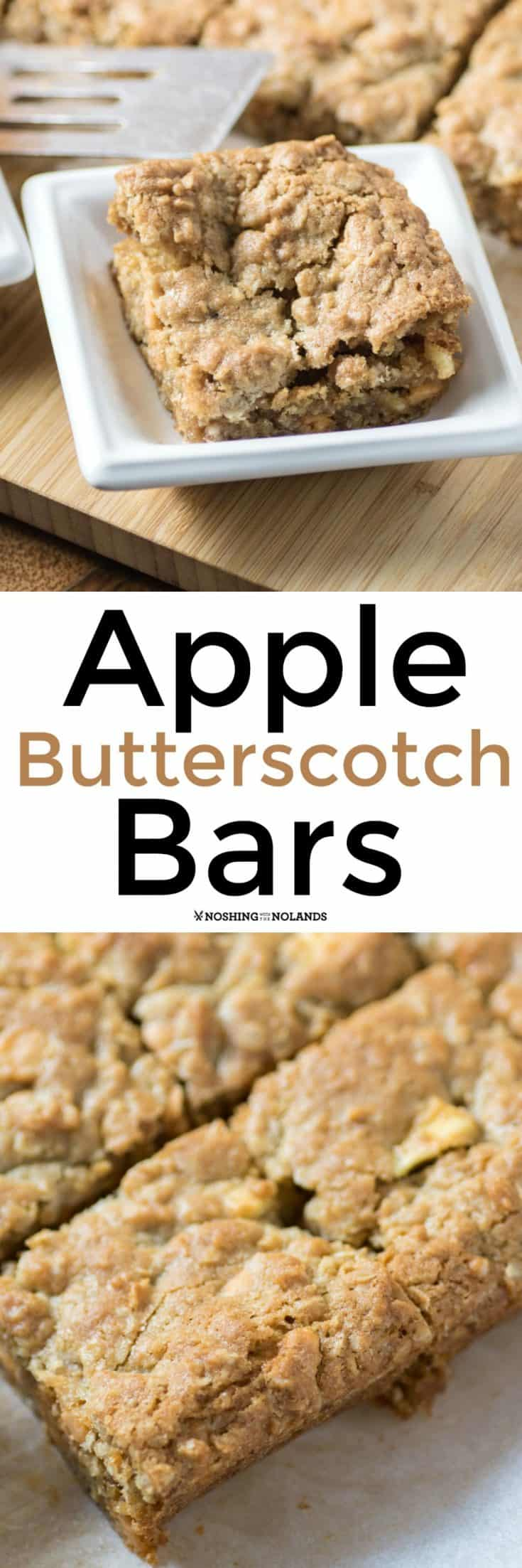 These sweet Apple Butterscotch Bars are a nice change up from using chocolate chips and are a wonderful treat year round. Kids would love them in their lunchboxes!! #apple #butterscotch #bars
