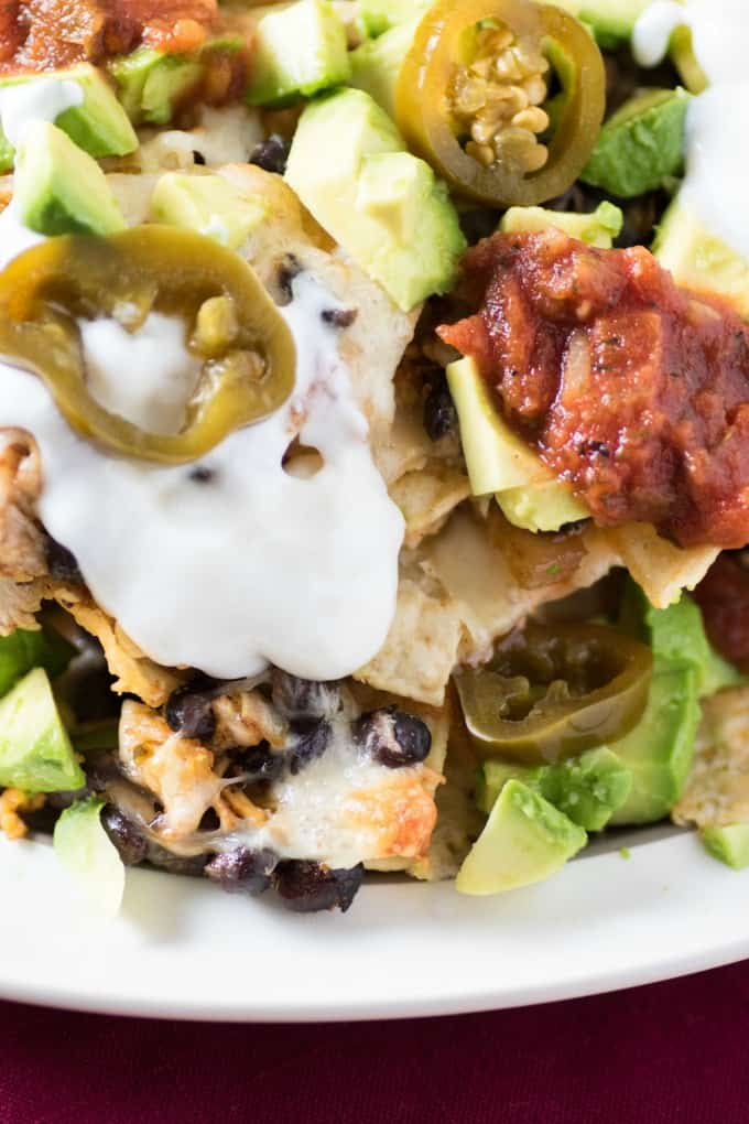 Easy Bean Chicken Nachos