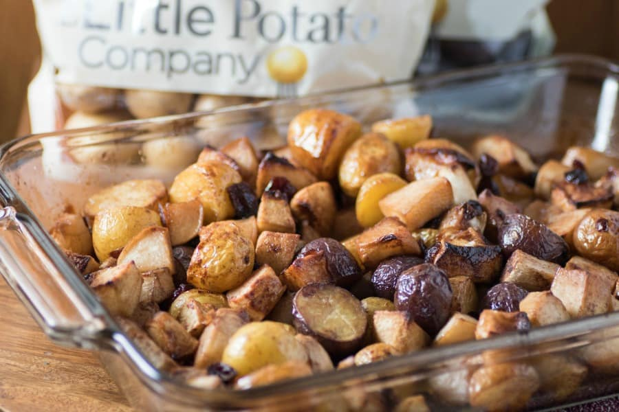 Slow Roasted Potatoes Turnips & Apples