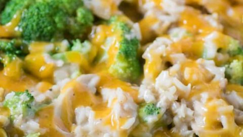 Stove Top Chicken Broccoli Cheesy Rice Casserole