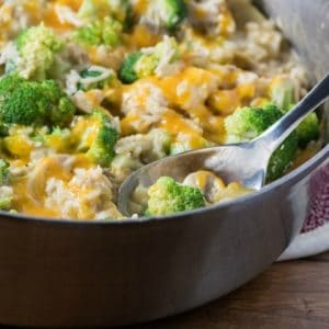 Stove Top Chicken Broccoli Cheesy Rice Casserole