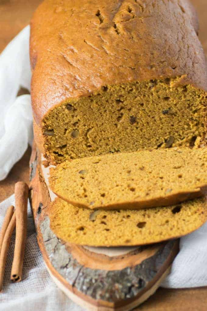 Bread Machine Pumpkin Pie Spice Loaf