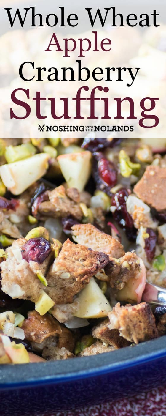 Whole Wheat Apple Cranberry Stuffing
