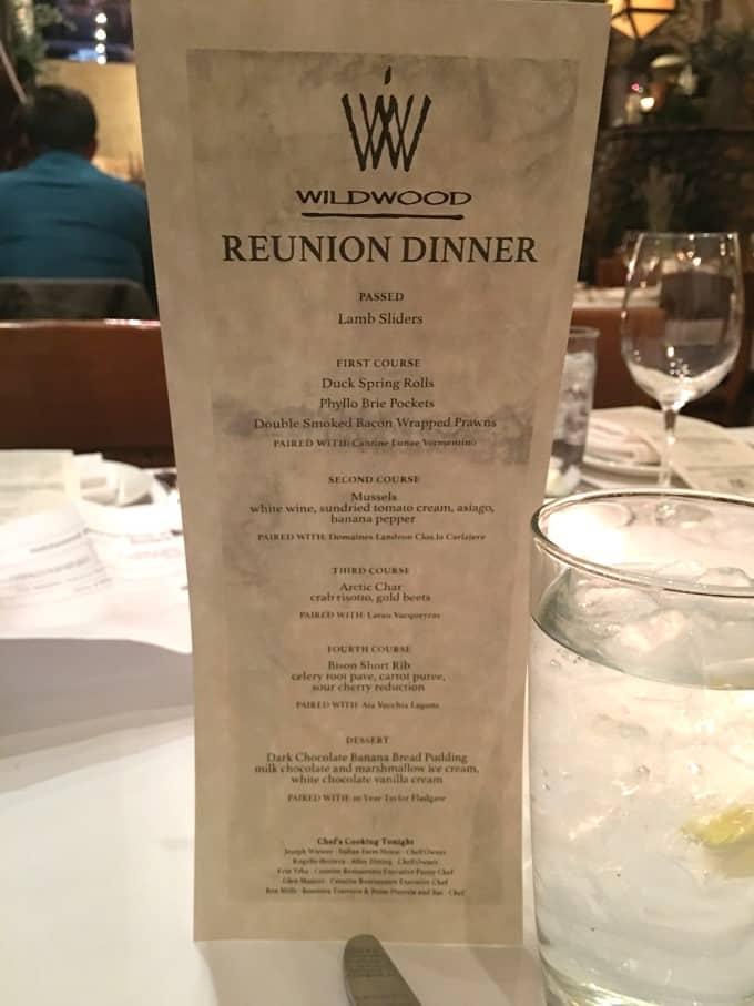 Wildwood Reunion - Bonterra Trattoria