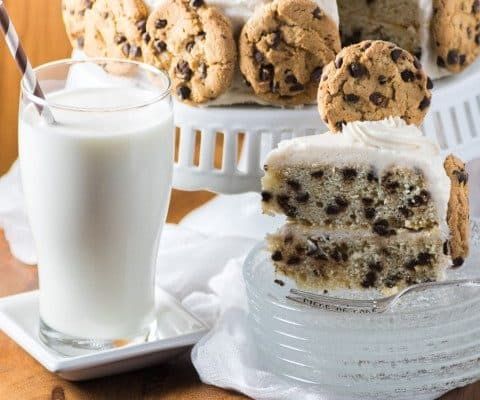 Milk and Cookies Cake