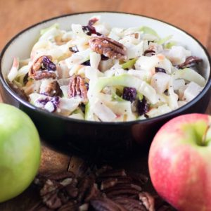 Spiralized Apple Turkey Slaw