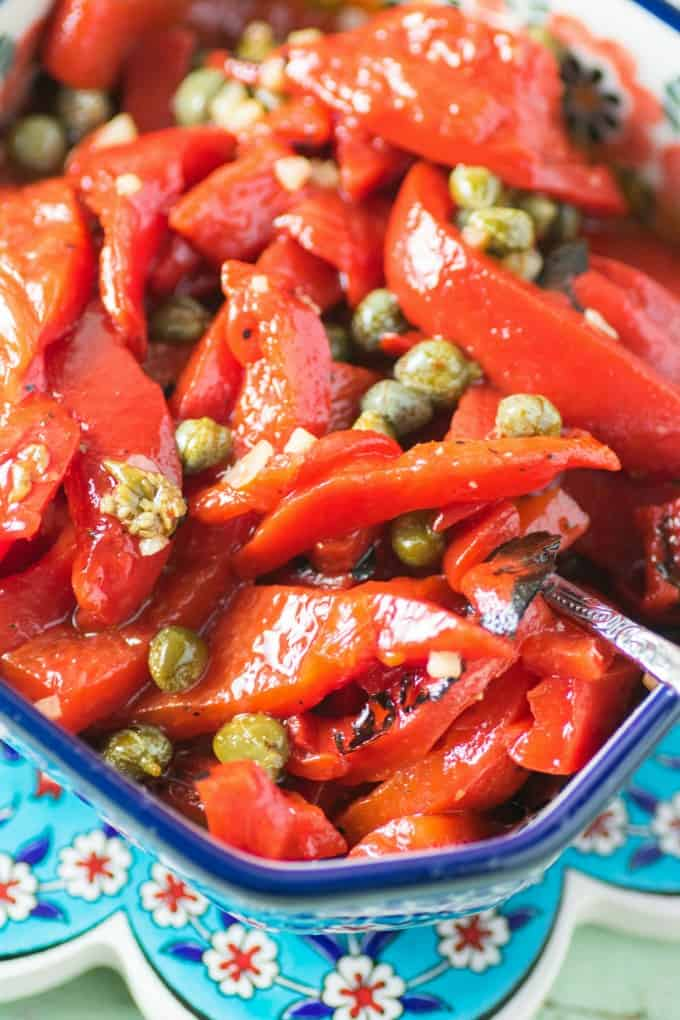 Marinated Roasted Red Peppers