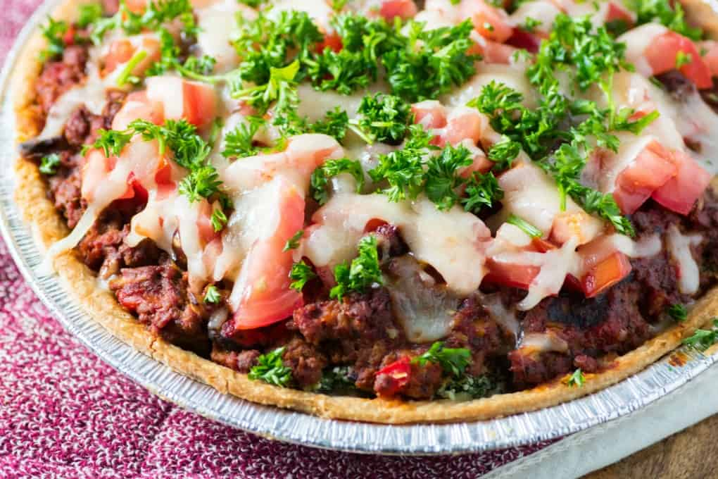 Italian Spinach Beef Pie