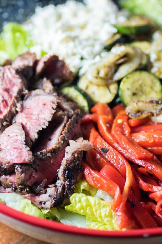 Mediterranean Steak Salad