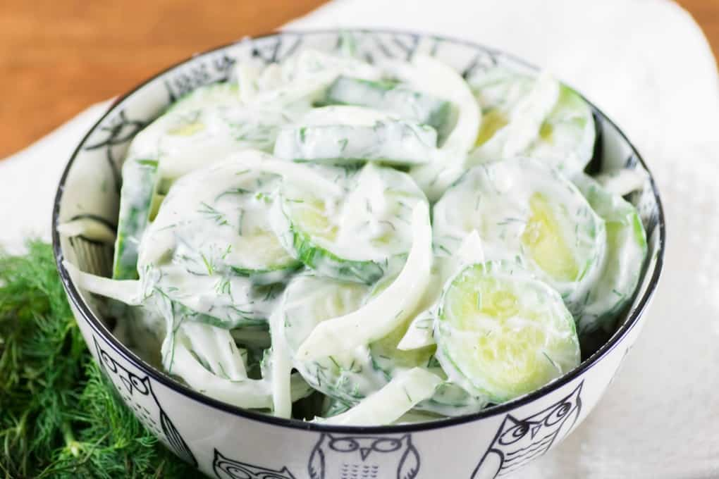 Creamy Cucumber Dill Salad