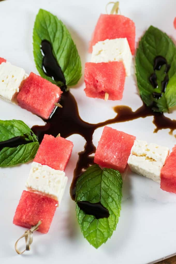 Watermelon Feta Salad Skewers