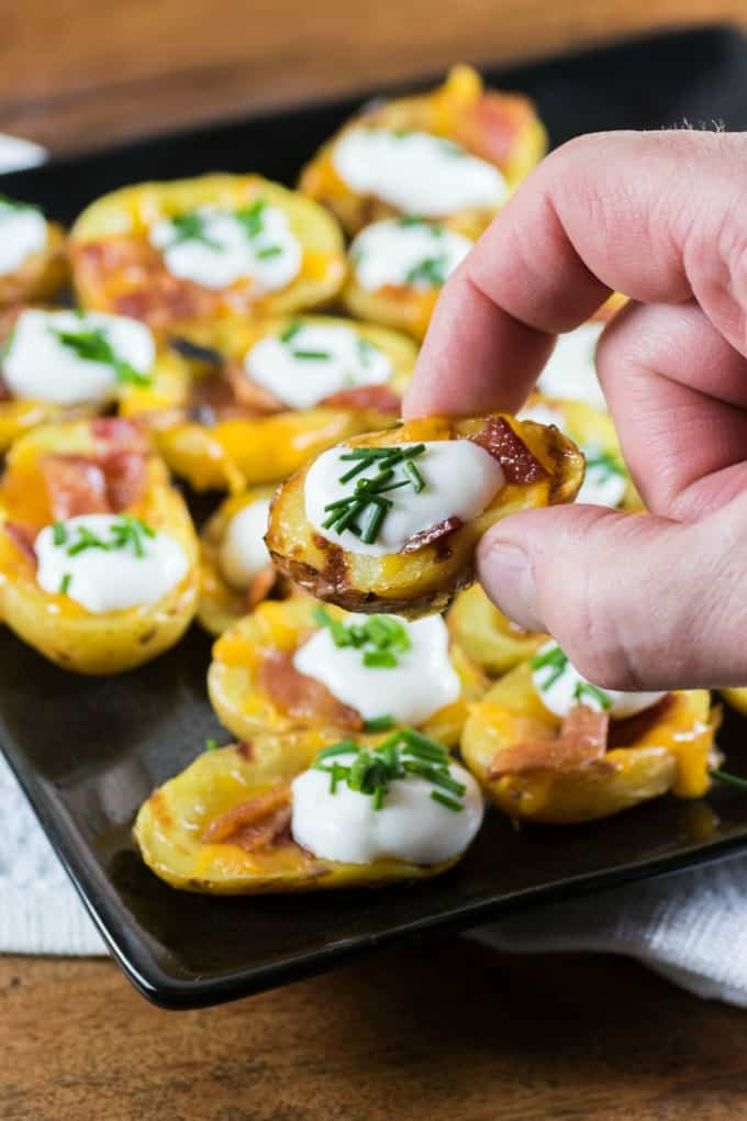 Grilled Little Potato Skins