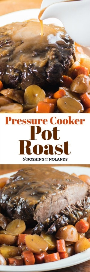 Pressure Cooker Pot Roast is a perfect family meal and is so easy for any night of the week.