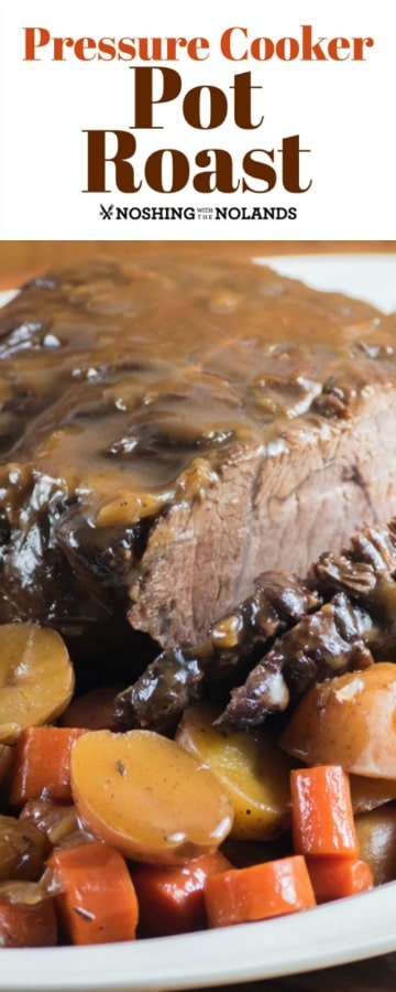 Pressure Cooker Pot Roast is so simple to make but is the best comfort meal you can have
