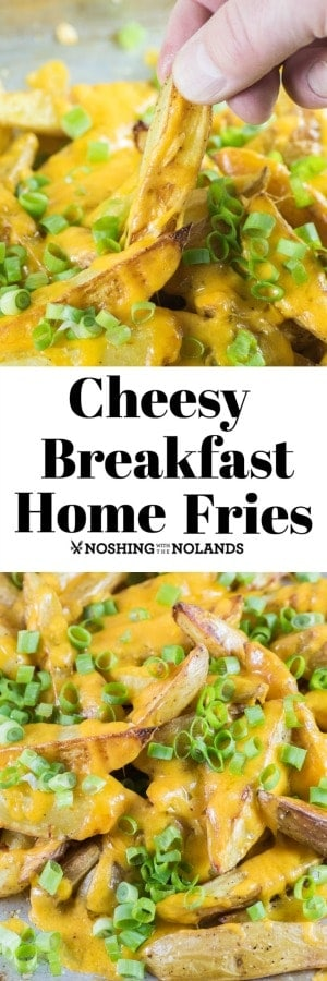 Cheesy Breakfast Home Fries are the best made with Little Potato Company's Fingerling Potatoes. #homefries #fingerlingpotatoes #ad