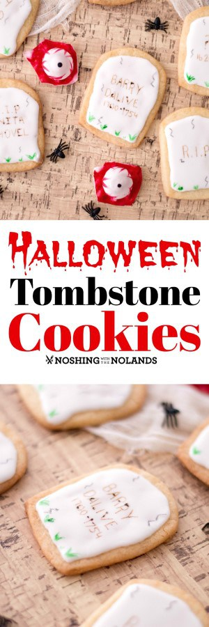 Halloween Tombstone Cookies are fun to make with the whole family. #Halloween #cookies #tombstones #easy #sugarcookies #royalicing