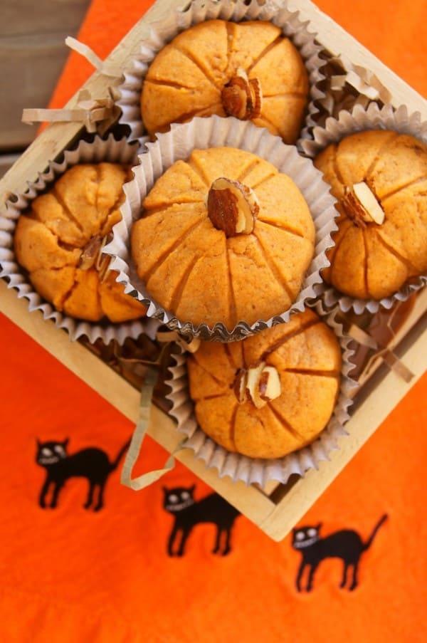 Pumpkin Cookies in a wooden box