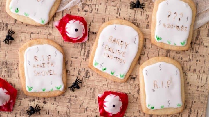 Halloween Tombstone Cookies