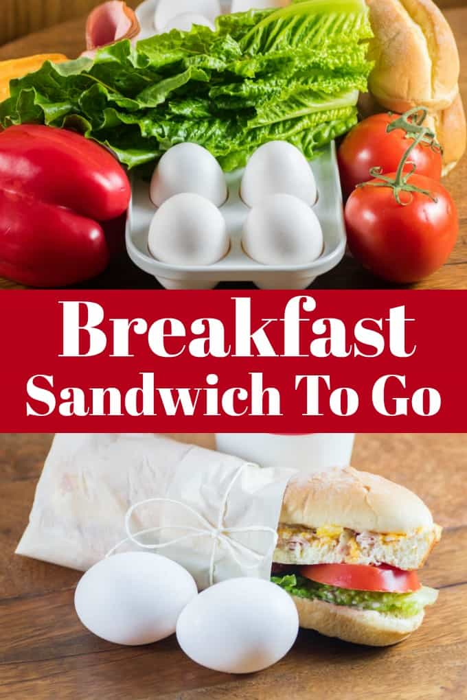 Breakfast Sandwich To Go will have you starting the day off right! #WorldEggDay #breakfastsandwich #breakfast #makeahead