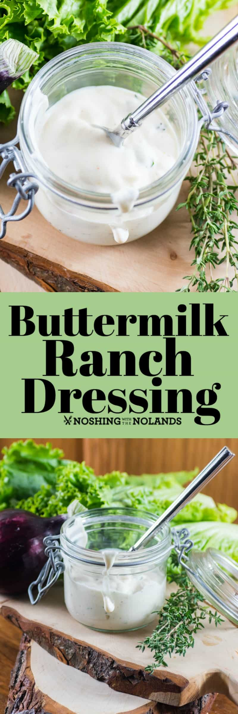 Buttermilk Ranch Dressing is a very popular dressing that is simple to make homemade!! #buttermilk #ranchdressing #homemade