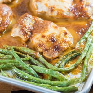 Easy Chicken Thighs in Peanut Sauce with Green Beans