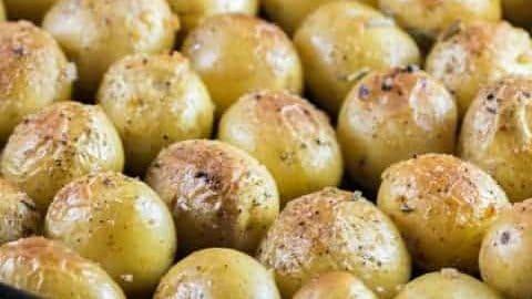 Garlic Rosemary Fondant Potatoes