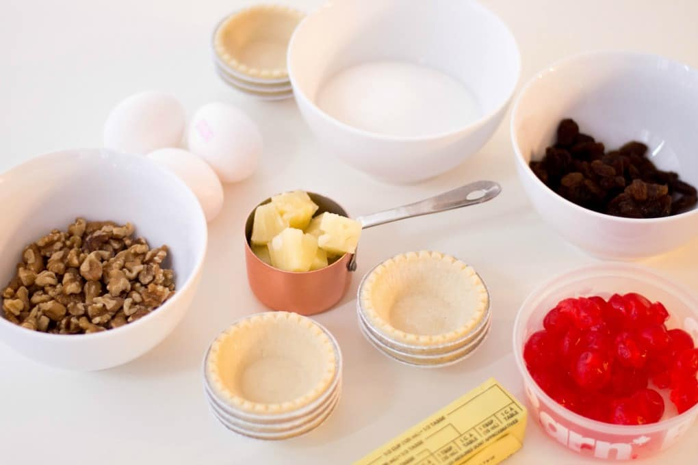 Ingredients for Holiday Mini Butter Tarts