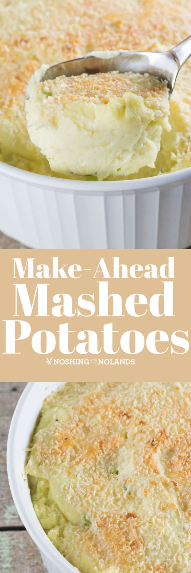 Make-Ahead Mashed Potatoes Recipe is the perfect side dish for the holidays!! #potatoes #makeahead #holidays #sidedish