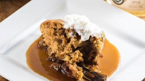 Easy Apple Brandy Sticky Toffee Pudding