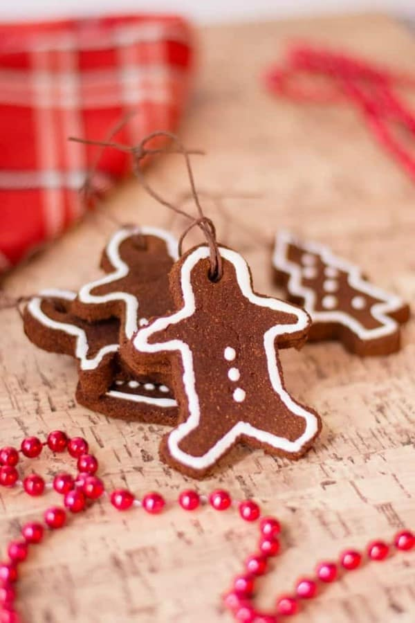 "Non-Edible ""Gingerbread"" Cinnamon Ornaments."
