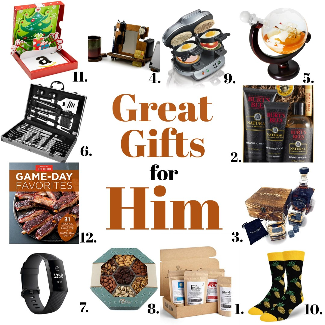 Great Gifts for Him are perfect gift giving ideas for the holidays
