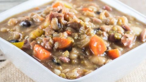 Ham and Bean Soup (Crock Pot Recipe)