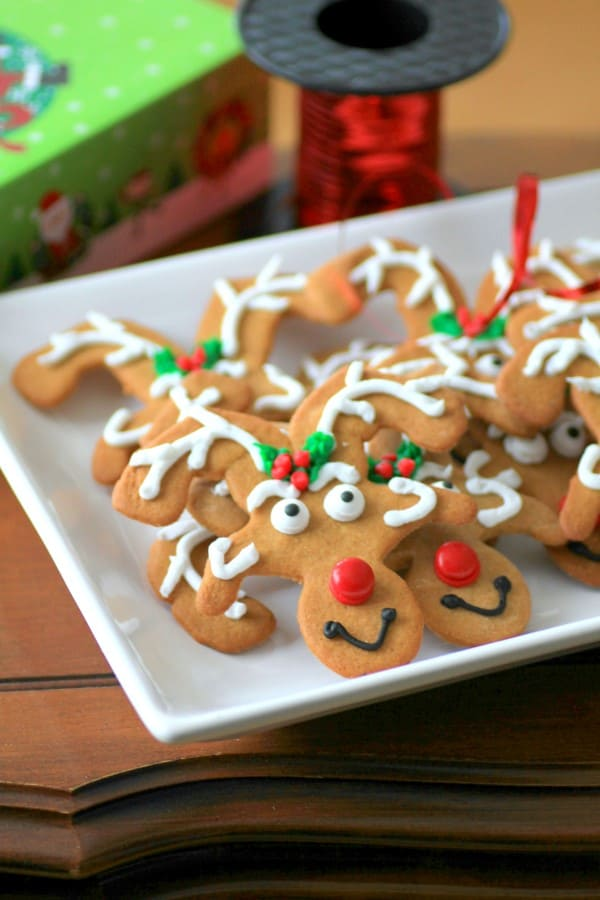 Reindeer Cookies on a tray