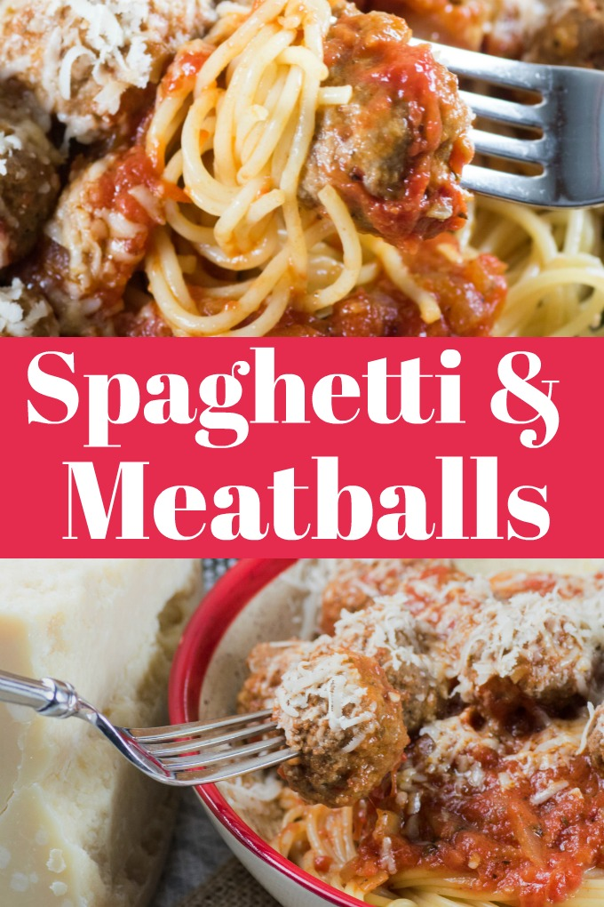 Spaghetti and Meatballs in Marinara Sauce is easy to make with the right recipe! This one will be your new family favorite. #spaghetti #meatballs #marinarasauce