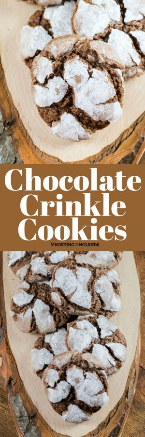 Chocolate Crinkle Cookies are fun to make and delicious to eat. They go hand in hand with all your holiday baking!! #chocolate #crinkle #cookies
