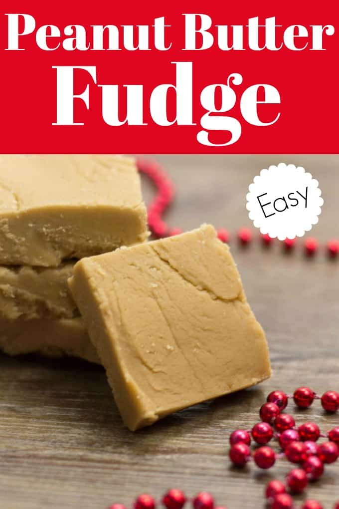 This Easy Peanut Butter Fudge cooks up quickly and sets fast and makes the perfect candy treat for the holidays! #peanutbutter #fudge #confection #candy