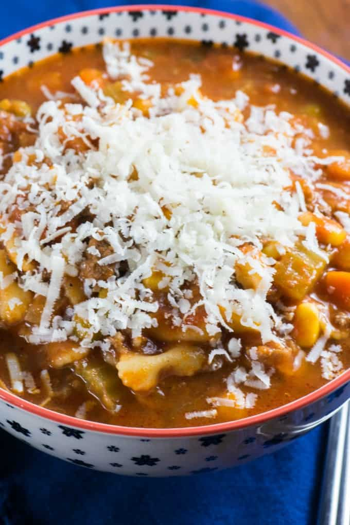Easy Peasy Hamburger Minestrone Soup