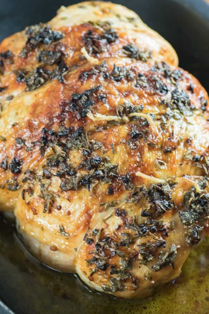 Herbed Butter Roast Turkey Breast