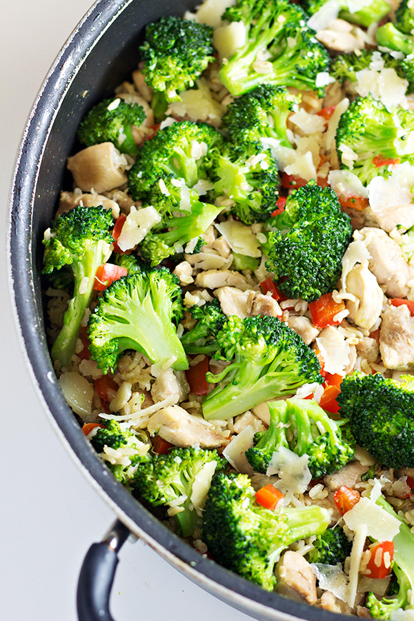 20-Minute Chicken and Rice Skillet Dinner Recipe in a pan