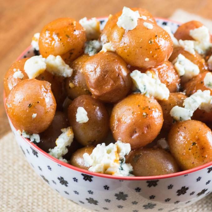 Buffalo Wing Potatoes in a bowl
