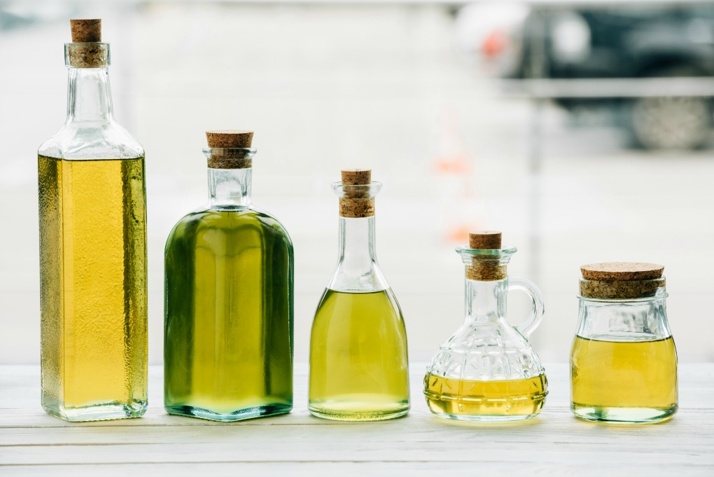 Variety of cooking oils