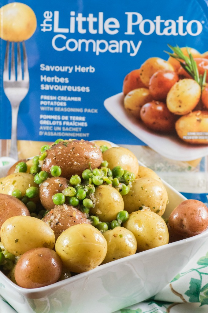 Herb Lemon Er Peas And Little Potatoes In A Bowl With Potato Microwave Pack
