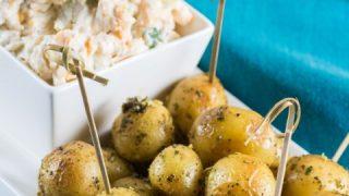Million Dollar Dip with Roasted Little Potatoes
