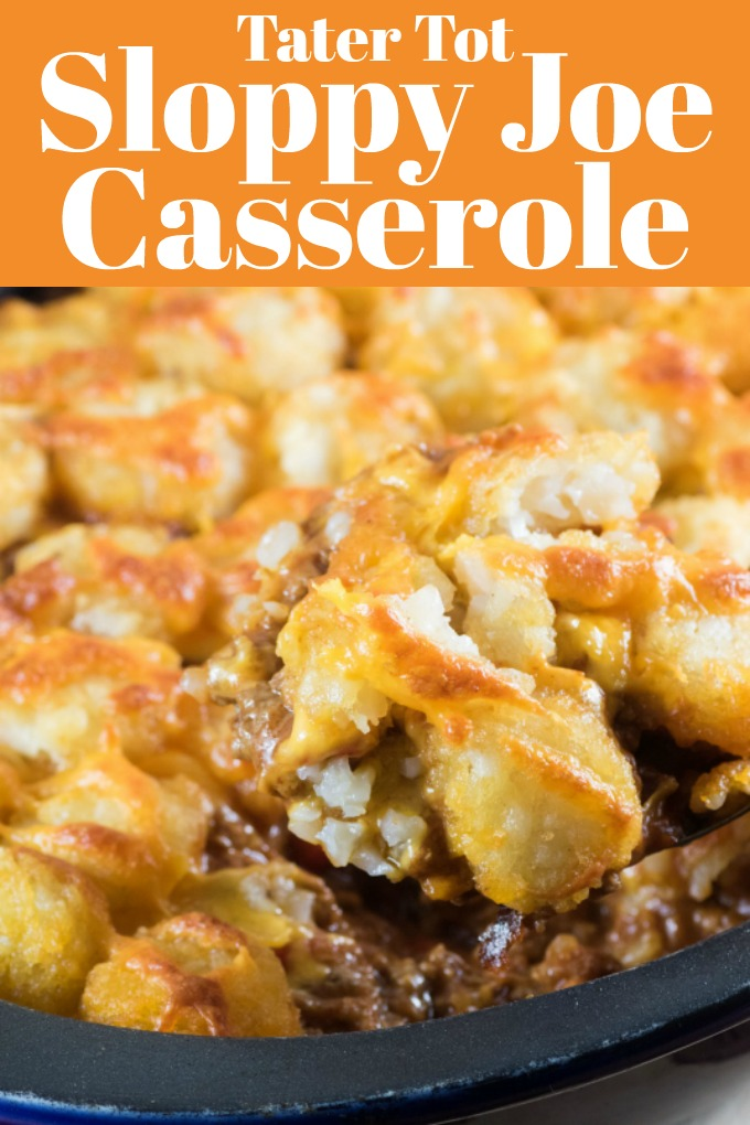 This Tater Tot Sloppy Joe Casserole is a family hit at our house and I am sure it will be at yours. It is a great twist on a classic recipe from your childhood. #tatertots #sloppyjoe #casserole #weeknightdinner