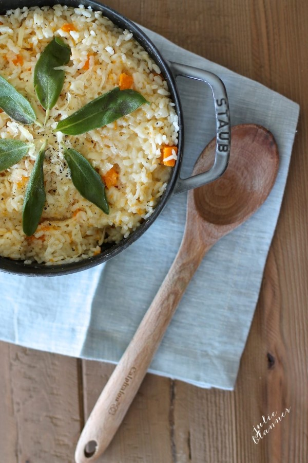 Butternut Squash Risotto on in Staub skillet