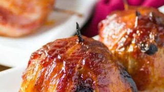 BBQ Bacon Wrapped Onion Bombs