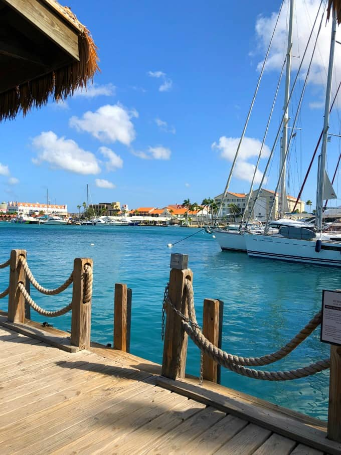 At the dock in Aruba