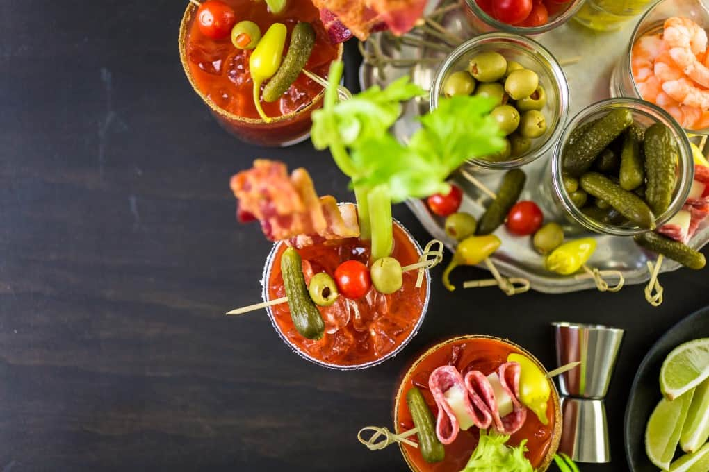 A Bloody Mary or Caesar bar